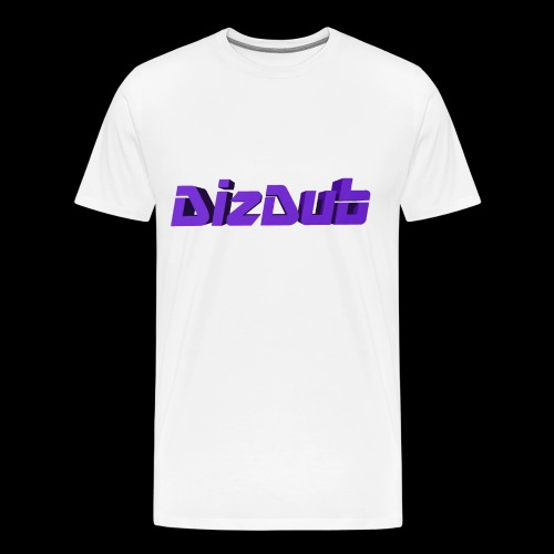 DizDub Logo Premium Tee (White) - Men's Premium T-Shirt