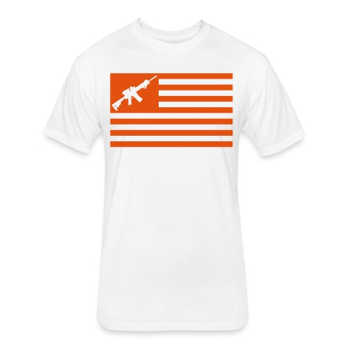 AR-15 - Fitted Cotton/Poly T-Shirt by Next Level