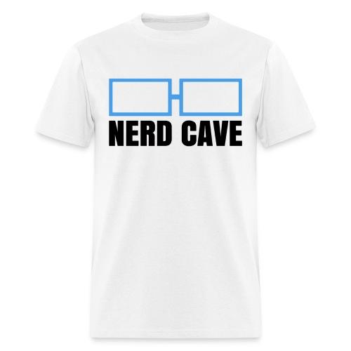 Nerd Cave Logo White Shirt - Men - Men's T-Shirt