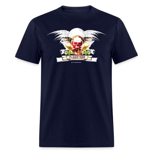 Planet Beer Skull & Keg Gothic Men's T-Shirt - Men's T-Shirt