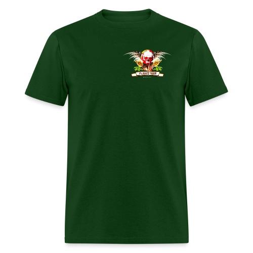 Planet Beer Skull & Keg Gothic Men's T-Shirt (Double Sided) - Men's T-Shirt