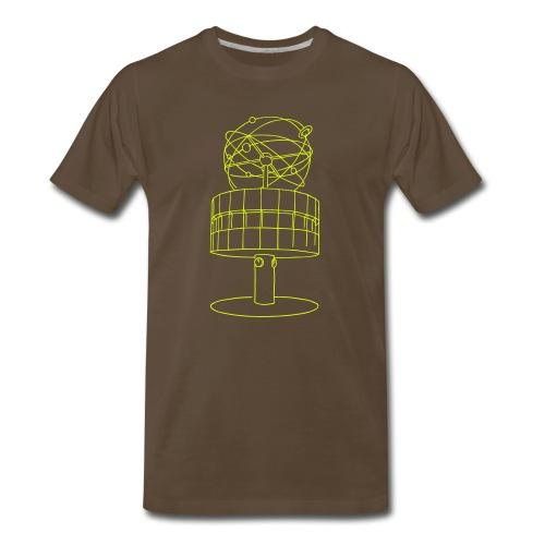 World time clock Berlin (neon-yellow) - Men's Premium T-Shirt