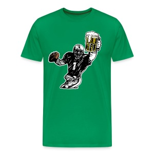 Beer and Football QB - Men's Premium T-Shirt