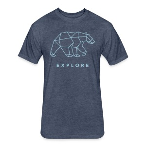 Explore Bear   Blue   Short Sleeve T-Shirt - Fitted Cotton/Poly T-Shirt by Next Level