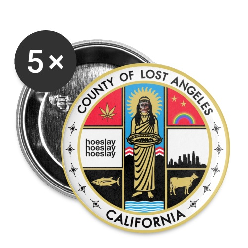 County of Lost Angeles Pins - Small Buttons