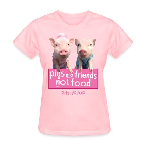 Pigs Are Friends Not Food Womens Shirt - Women's T-Shirt