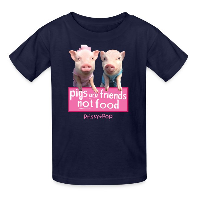Pigs Are Friends Not Food Kids Shirt