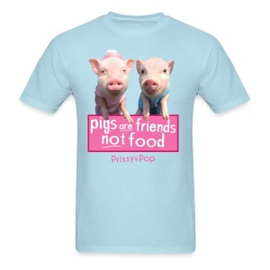 Pigs Are Friends Not Food Mens Shirt - Men's T-Shirt