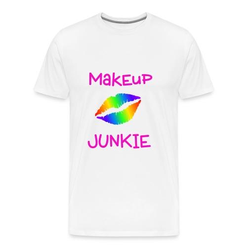Makeup Junkie Unisex T-Shirt White - Men's Premium T-Shirt
