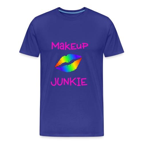 Makeup Junkie Unisex T-Shirt Royal Blue - Men's Premium T-Shirt