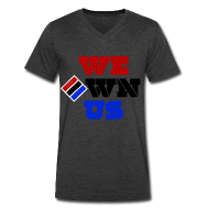 T-Shirts ~ Men's V-Neck T-Shirt by Canvas ~ We Own Us (V Neck)