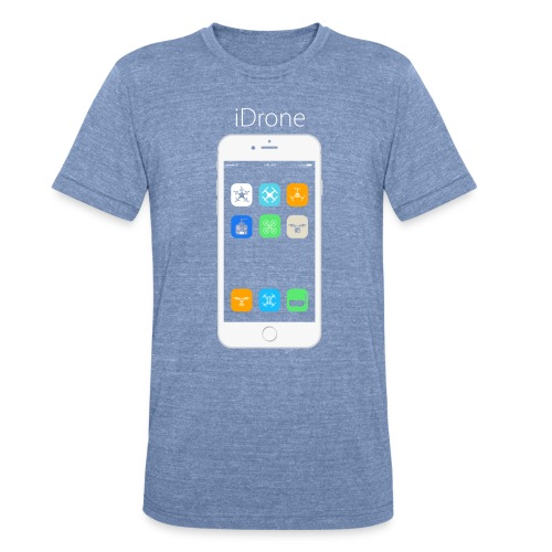 iDrone - Light Blue - Unisex Tri-Blend T-Shirt