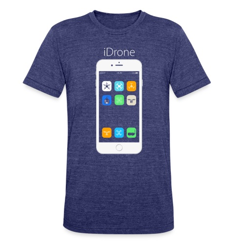 iDrone - Gray - Unisex Tri-Blend T-Shirt