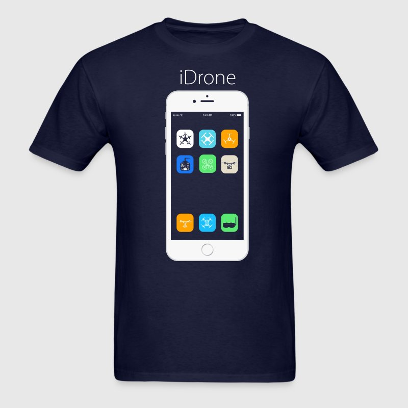 iDrone - Navy Blue - Men's T-Shirt