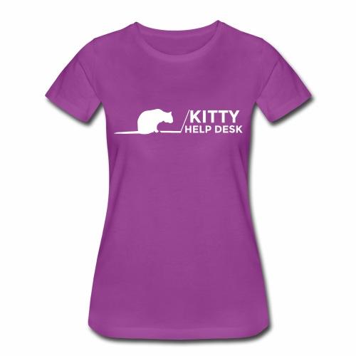Kitty Help Desk Tee - Women's Premium T-Shirt