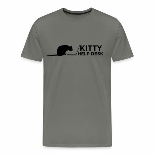 Kitty Help Desk Tee - Men's Premium T-Shirt