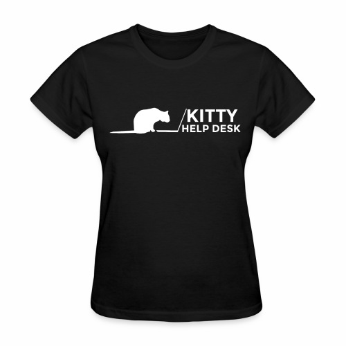 Kitty Help Desk Tee - Women's T-Shirt