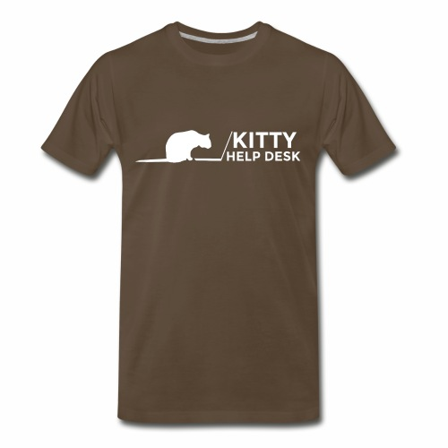 Kitty Help Desk Tee - Men's Premium T-Shirt