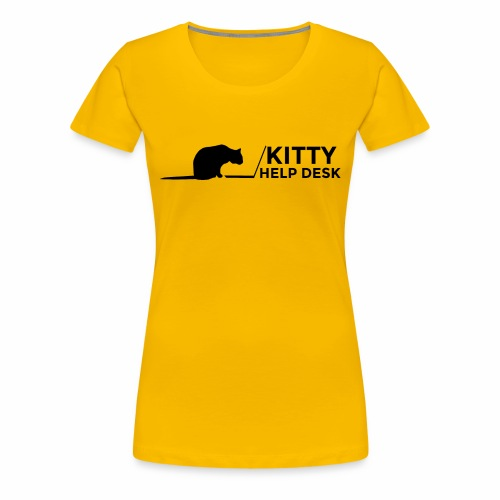 Kitty Help Desk Tee - Women's Premium T-Shirt