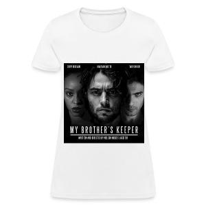 My Brothers Keeper Black on White T Shirt (womens) - Women's T-Shirt
