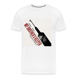 Brother's Keeper, Syringe & Silhouettes - Men's Premium T-Shirt