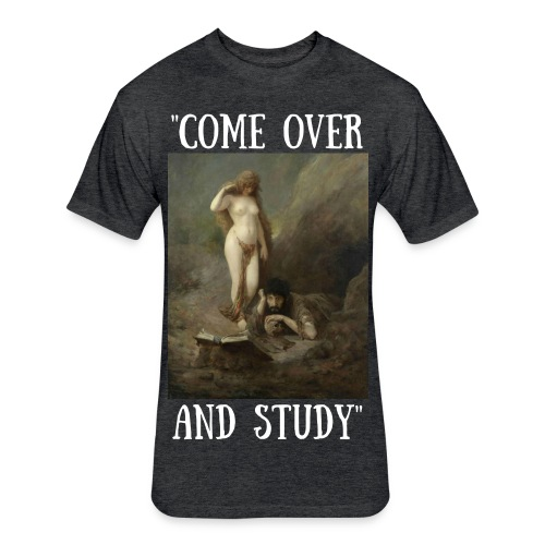 Finals Stress Study Group - Fitted Cotton/Poly T-Shirt by Next Level