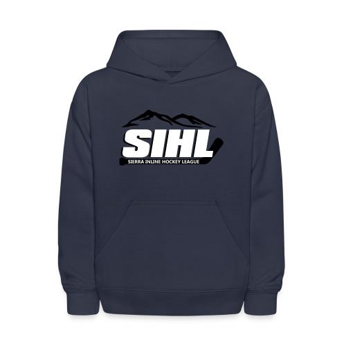 SIHL Youth Hoodie Navy w BW Logo - Kids' Hoodie