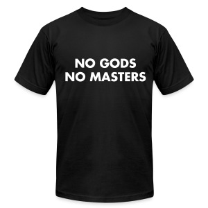 NO MASTERS - Men's T-Shirt by American Apparel