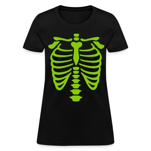 X-Ray Apple Green Rib Cage - Women's T-Shirt