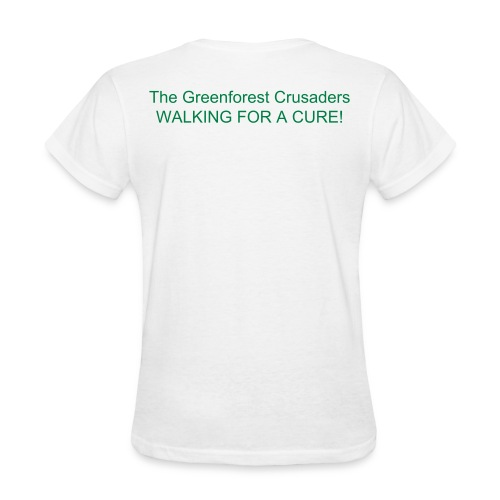 Greenforest T-Shirt (Women)  WALKING FOR A CURE! [Customizable on back] - Women's T-Shirt