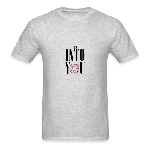 Poprocks Mens T-Shirt - Into You Black Text - Men's T-Shirt