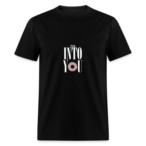 Poprocks Mens T-Shirt - Into You White Text - Men's T-Shirt