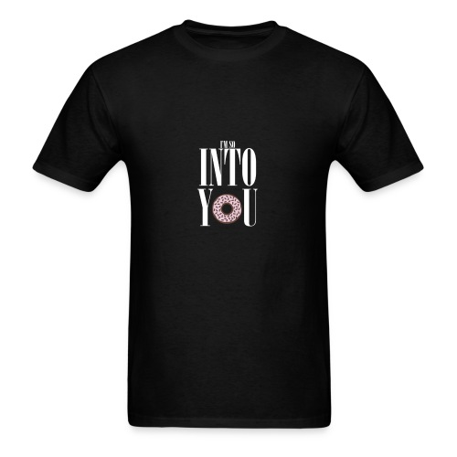Poprocks Mens T-Shirt - Into You White Text - Men's T-Shirt