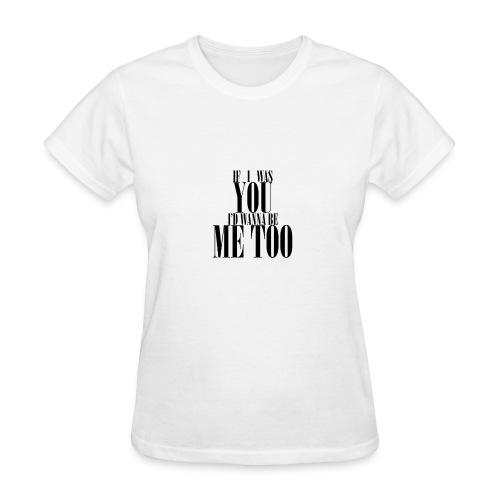 Poprocks Womens T-Shirt - Me Too Black Text - Women's T-Shirt