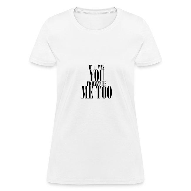Poprocks Womens T-Shirt - Me Too Black Text