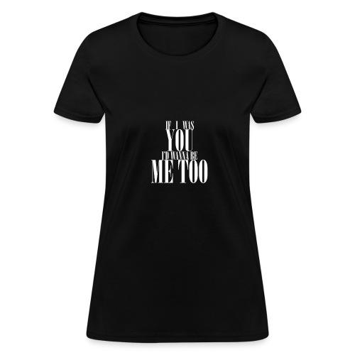 Poprocks Womens T-Shirt - Me Too White Text - Women's T-Shirt