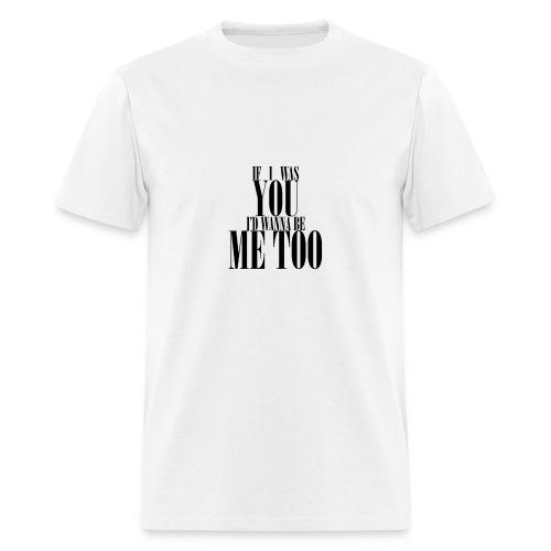 Poprocks Mens T-Shirt - Me Too Black Text - Men's T-Shirt