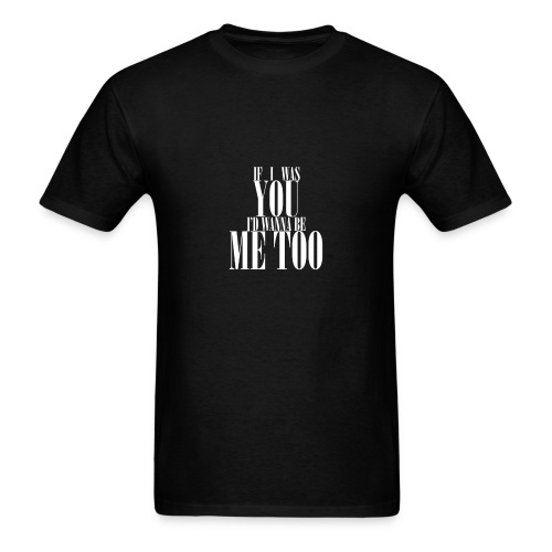 Poprocks Mens T-Shirt - Me Too White Text - Men's T-Shirt