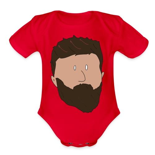 Jimmy Rage Baby Short Sleeve One Piece - Organic Short Sleeve Baby Bodysuit