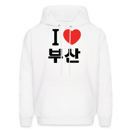 I heart Busan 부산 - 나는 부산 을 사랑 해요 Hoodie - Men's Hoodie