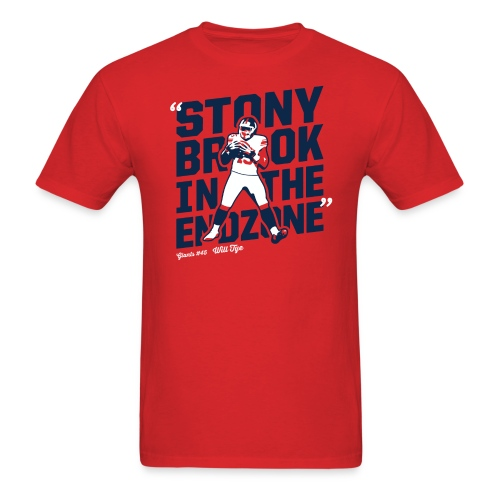 Stony Brook in the Endzone - Men's T-Shirt