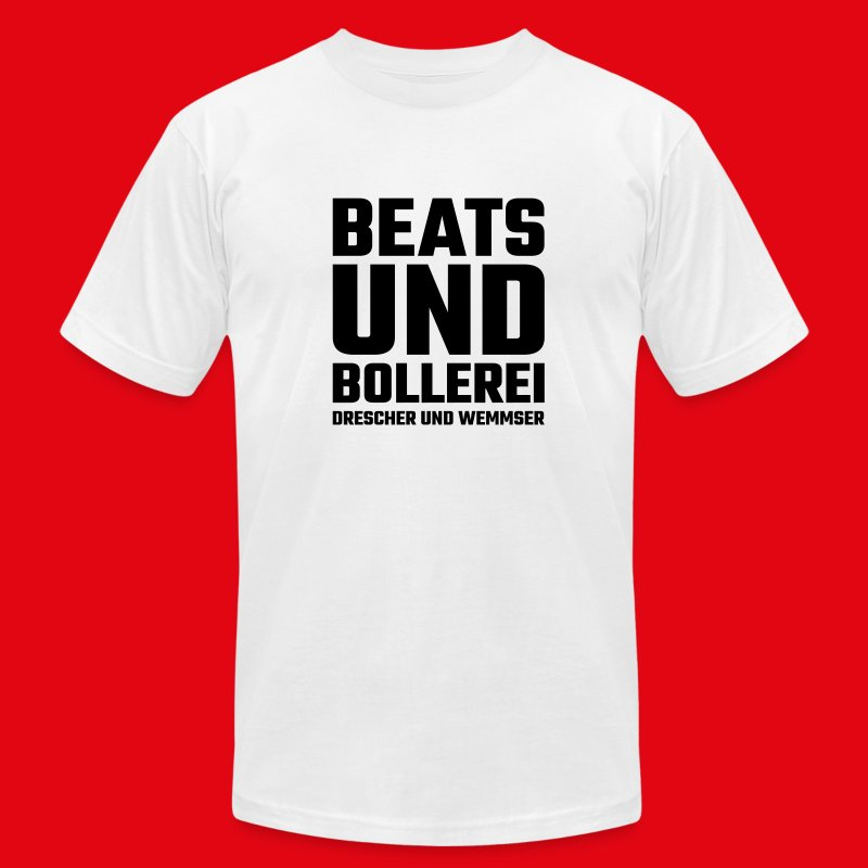 Beats und Bollerei de Man - Men's T-Shirt by American Apparel