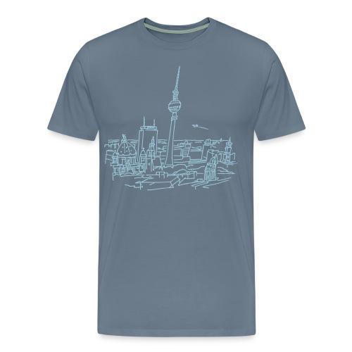Panorama of Berlin  - Men's Premium T-Shirt