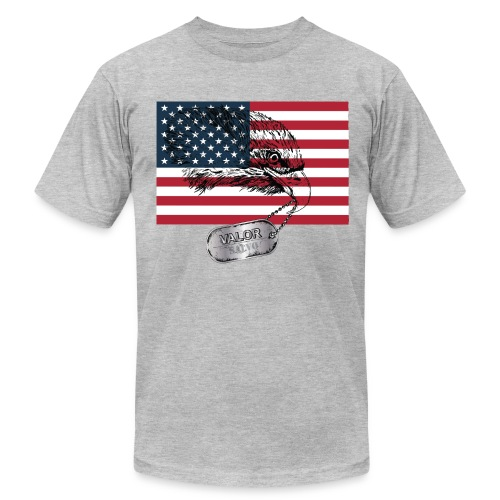 Salvo American Flag Eagle Head - Men's Fine Jersey T-Shirt
