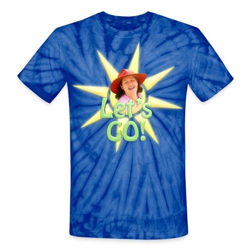 Let's Go w/ Sun - Men's - Unisex Tie Dye T-Shirt