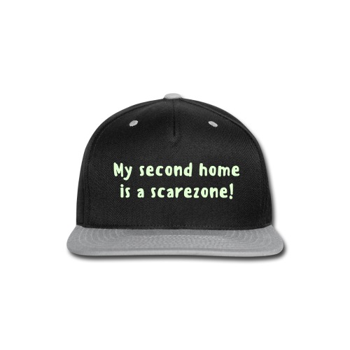 Glow-in-the-dark exclusive 'My Second Home is a Scarezone' cap - Snap-back Baseball Cap