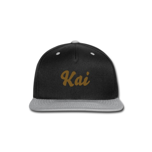 Grey Hat With Gold Text - Snap-back Baseball Cap