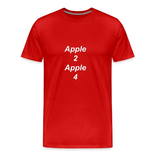 Apple Two T-shirt - Men's Premium T-Shirt