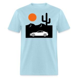 Men's Desert Sunset Tee - Powder Blue - Men's T-Shirt