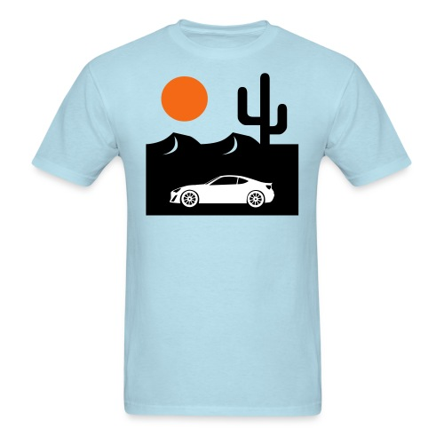 Men's Desert Sunset Tee - Powder Blue - Men's T-Shirt